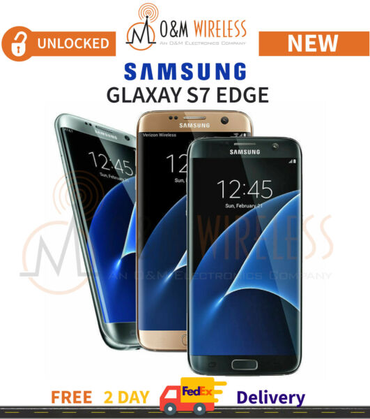 New Samsung Galaxy S7 Edge 32GB Unlocked SM-G935 Black Gold Silver AT