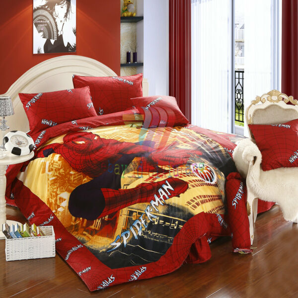 STUNNING SPIDER-MAN TWIN FULL QUEEN 7-PIECE COMFORTER IN A BAG FREE SHIPPING
