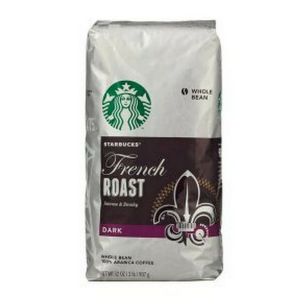 COFFEE STARBUCKS DARK FRENCH ROAST HOUSE BLEND WHOLE BEAN COFFEE 40 OZ SEALED