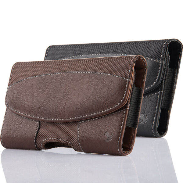 Cell Phone iPhone Horizontal Leather Carrying Pouch Case Cover Belt Clip Holster