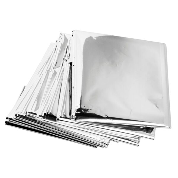 Lot of 12 Emergency Mylar Rescue Space Thermal Blankets 62quot; x 82quot;