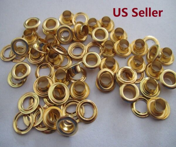 Brass Plating Gold Eyelets with Washers Clothing Grommets Scrapbook  6810mm
