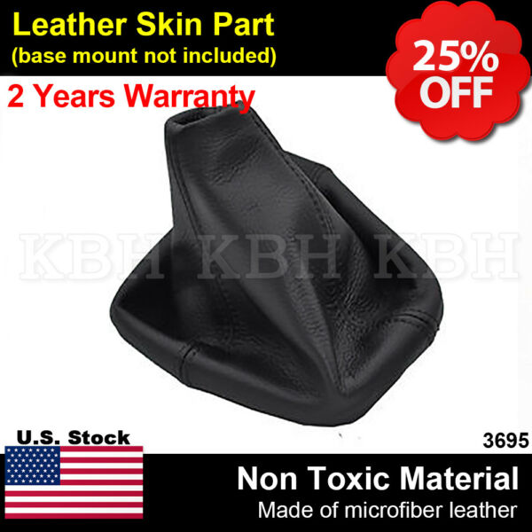 Leather Shift Boot Shifter Cover Fits for Hummer H3 Automatic 2005-2011 Black