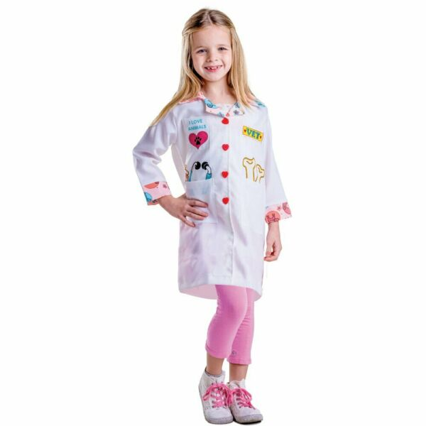 Veterinarian Costume For Girls Vet Lab Coat For Kids By Dress Up America $19.99