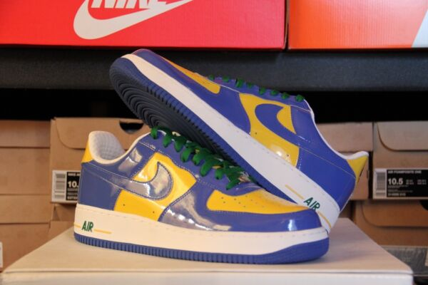 NIKE PREMIUM Air Force One BRAZIL WORLD CUP Deadstock Size 10 - (309096-441)