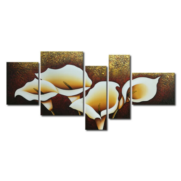 Original Hand Paint Canvas Oil Painting Picture Home Decor Wall Art Calla Flower
