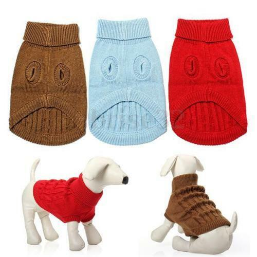 Dog Pet Winter Warm Sweater Knitwear Puppy Outwear Apparel More Size And Color $9.49