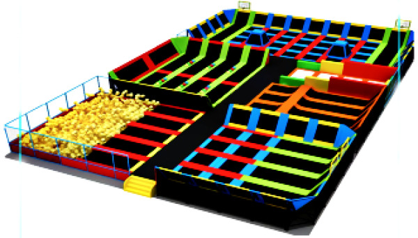 10000 sqft Commercial Trampoline Park Ninga Climb Inflatable We Finance to 100%