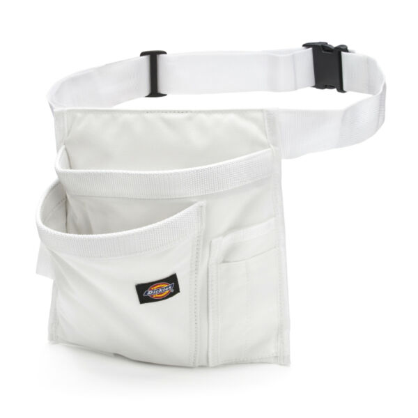 Dickies Work Gear 57049 White 5-Pocket Apron Painter Tool Brush Pouch Work Belt