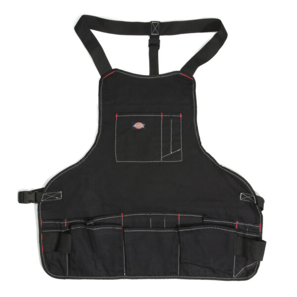 Dickies Work Gear 57081 Black 16-Pocket Bib-Style Carpenter's/Craftsmen's Apron