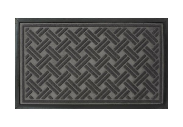 Rubber Backed Non Slip Doormat Entrance Rug Engraved Indoor Outdoor Mat Decor
