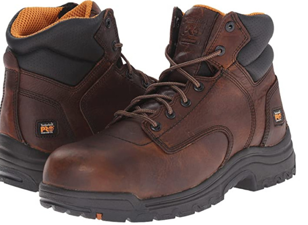 Timberland PRO TiTAN Men#x27;s Brown Composite Safety Toe 6quot; Work Boot TB050508 $132.99