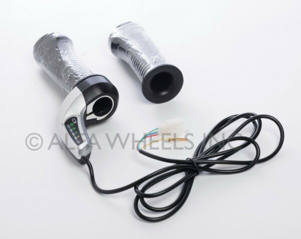36V Universal Electric Scooter eBike Throttle w Indicator 5 Wires