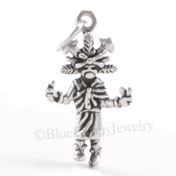 KACHINA Charm Butterfly Spring Dance Pendant STERLING SILVER 925 doll CHARM .925