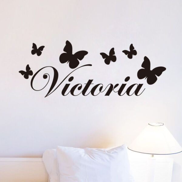 Butterfly Custom Kid Name Wall Sticker For Girls Bedroom Art Decal Home Decor