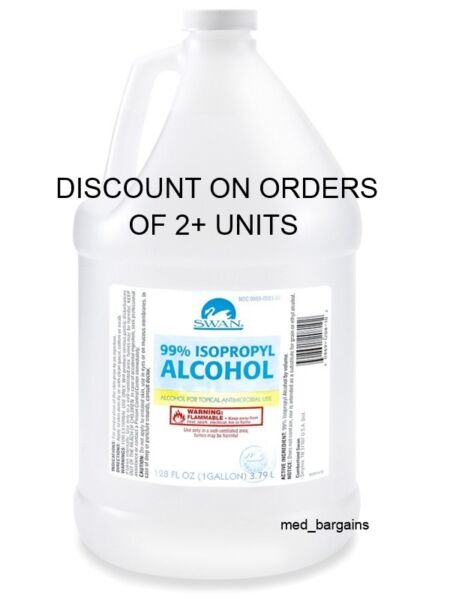 DISCOUNT 1 GALLON OF 99% ISOPROPYL RUBBING ALCOHOL 128 OZ NEW STOCK EXPIRED 2018