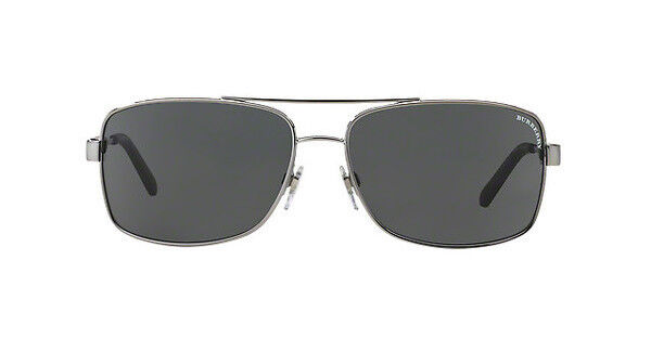 NWT Burberry Sunglasses BE 3074 1003 87 Gunmetal Gray 63 mm BE3074 100387 NIB $107.00