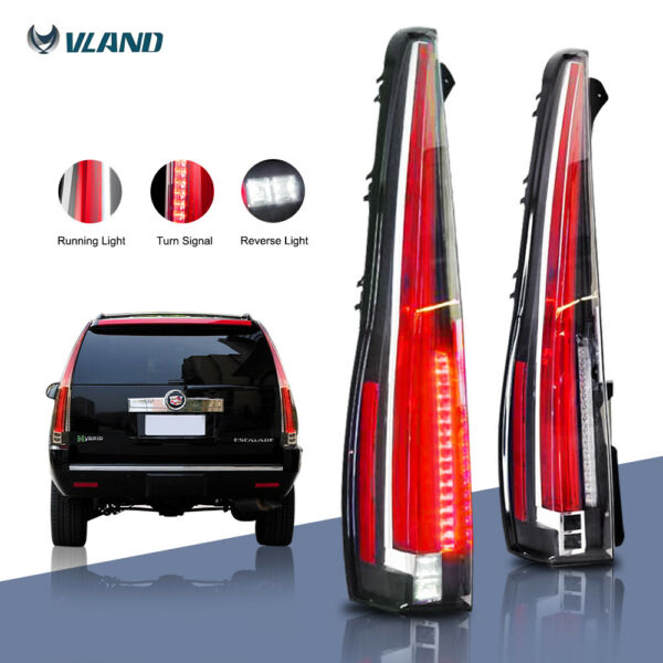 LED Tail Lights For 2007-2014 CADILLAC Escalade / ESV Red Rear Lamp 2016 Version
