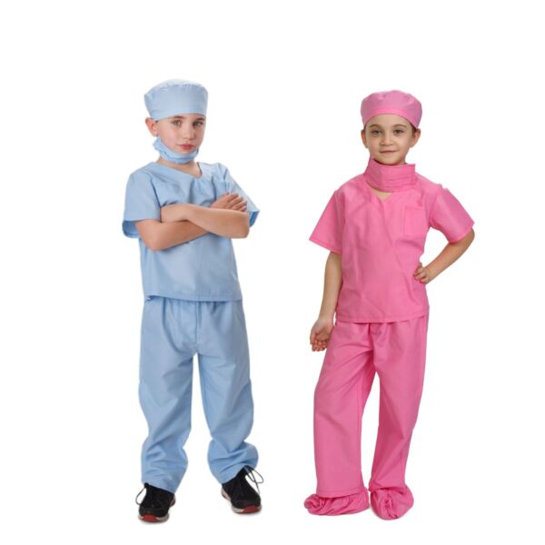 Doctor Scrubs For Kids Pink Blue Doctor And Nurse Costume By Dress Up America $15.95