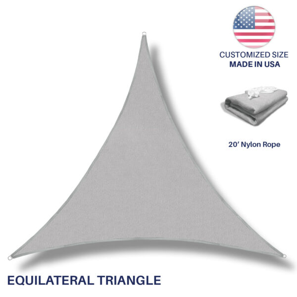 Sun Shade Sail Gray Permeable UV Block Outdoor Canopy Awning Pool Patio Top