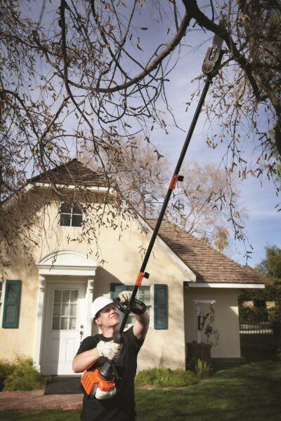 Pole Saw Gas Powered Gardening Equipment Chainsaw Extension Engine Tree Trimmer