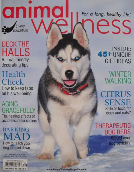 THERAPEUTIC DOG BEDS 12 09 Animal Wellness CANINE ACUPRESSURE WINTER WALKING $2.04