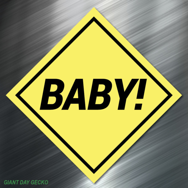 Reflective BABY ON BOARD Safety Decal nighttime visible sticker Car SUV Decal !