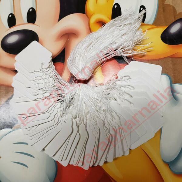 Merchandise Price Tags White Blank with Strings Strung VarietyOfSizes/Quantities