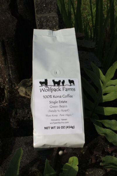 100% Kona Coffee Green Beans (Ready to Roast) 4 pounds whole bean free shipping