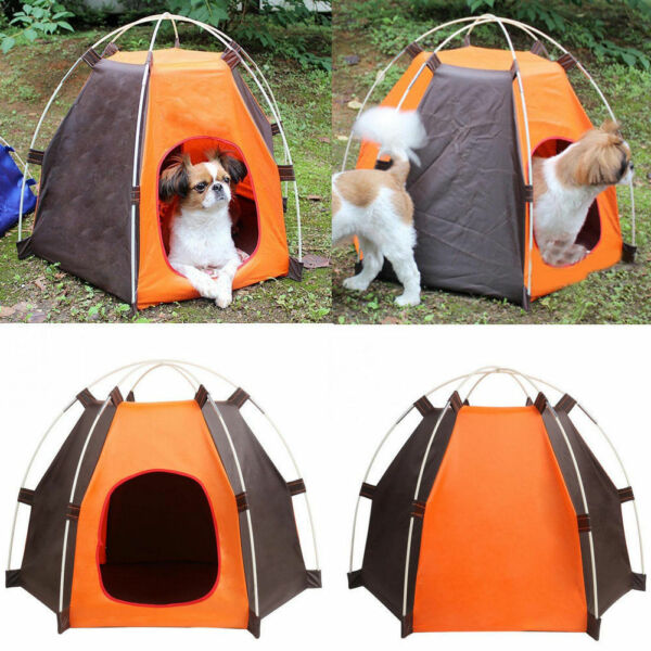 New Dog or Cat Hexagon Tent House for Indoor or Outdoor Use $15.87