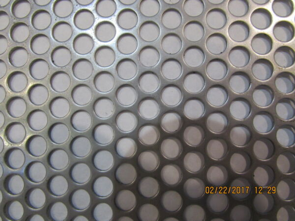 1 4quot; HOLES 20 GAUGE 304 STAINLESS STEEL PERFORATED SHEET 4quot; X 18quot;