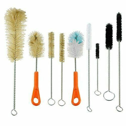 Ultimate KitchenLabTube Glass amp; Baby Bottle Brush Cleaning Set of 9 brushes