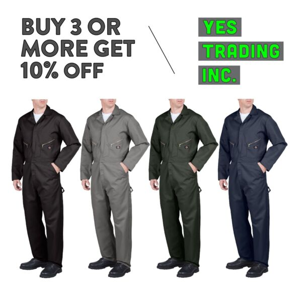 DICKIES 48799 MENS COVERALLS LONG SLEEVE COVERALL MECHANIC SUIT JUMP SUIT BOILER $48.00