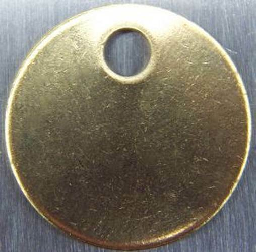 Round Blank Brass ID tags Pets Keys Tools Valves 1quot;1 1 4quot;1 1 2quot;2quot; Made in USA