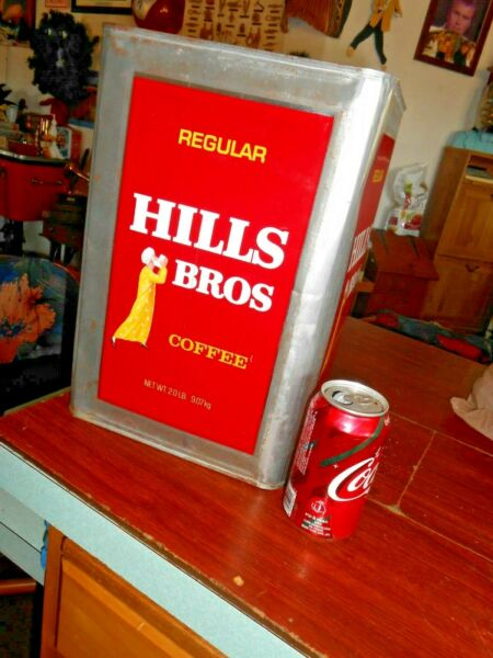 Vintage Hills Brro Coffee Can Commercial 20 Pound Painted Label