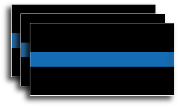 Reflective Thin Blue Line Sticker Decal Police Support Lives Matter Window Truck $3.69