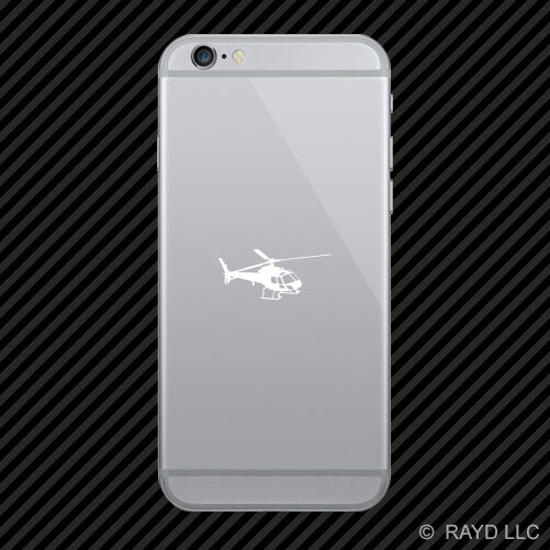 (2x) Flying Eurocopter AS350 Helicopter Cell Phone Sticker Mobile many colors
