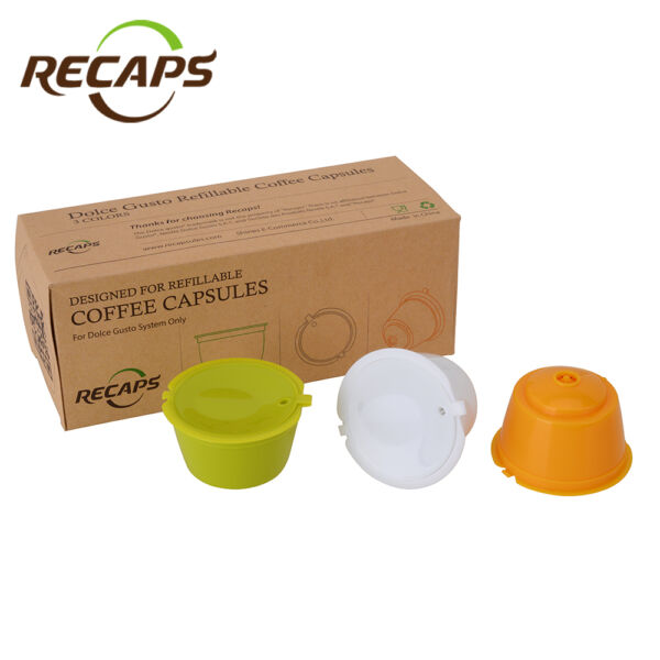 3pcs Refillable Dolce Gusto Coffee Capsule Nescafe Reusable Capsule Refill