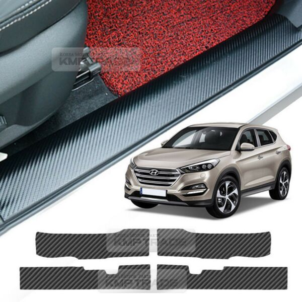 Door Scuff Step Carbon Cover Scratch Anti Protector for HYUNDAI 16 17 Tucson TL $28.99