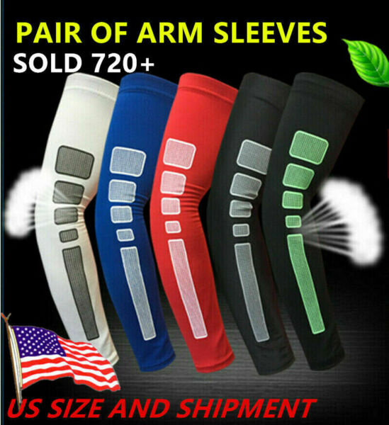 PAIR of Compression Sports Arm Sleeves Cooling Sleeve Camo Football Basketball $6.99