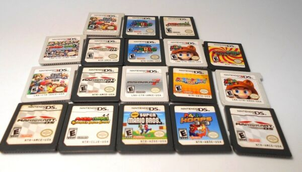 Nintendo ds & 3ds MARIO games go select title lite dsi xl 2ds 3ds game