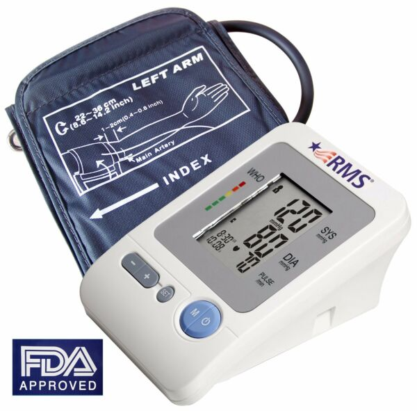 RMS Automatic Arm Blood Pressure Monitor w Heart Rate Monitor w Cuff (L M or S)
