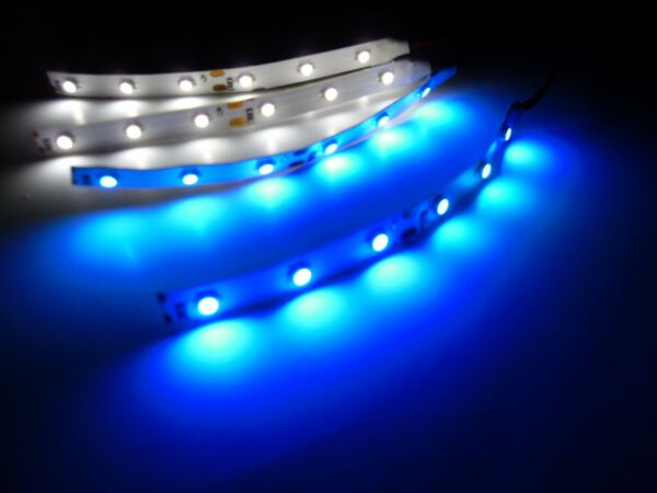 RC Blue and White Underbody LED Strip Lights Superbright Car Truck Quadcopter $9.69