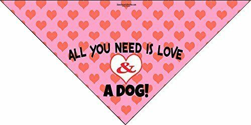 All You Need Is Love amp; A Dog Dog Bandana Med to Large Dogs 46014 $6.99