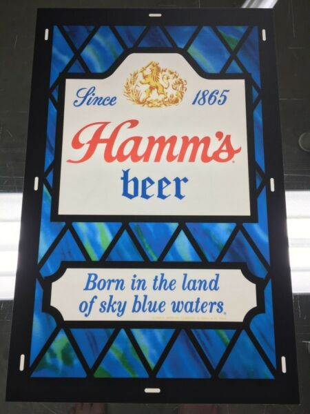 Hamm#x27;s Beer Lighted Sign Faceplate