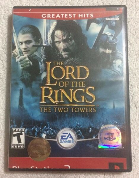 PLAYSTATION 2 PS2 LORD OF THE RINGS TWO TOWERS (ERROR PRINT COVER ART) VGC RARE!