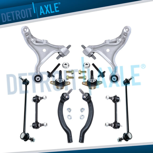 10pc Front Lower Control Arm Tierod Sway bar link for 2001-06 Volvo S60 V70