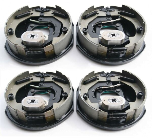 2 Pairs New 10quot; x 2 1 4quot; electric trailer brake assembly 3500 lbs axle 21003 $137.62