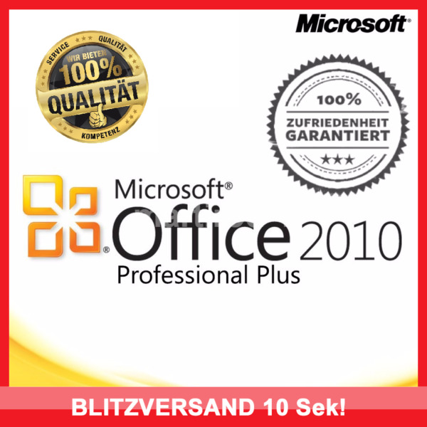 Microsoft Office 2010 Professional Plus, MS® Office ✔PRO VOLLVERSION✔ 32