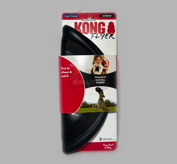 KONG Extreme Rubber Frisbee Flyer  Dog Toy Fetch & Catch - Small & Large Extreme